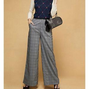 Modcloth Gray plaid extra wide pants